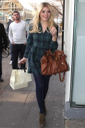 Holly Willoughby arriving at the Riverside Studios in London 14th March x2