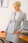 Вера Стивенс, фото 31. Faith Stevens - Grey Suit (OnlyTease), foto 31